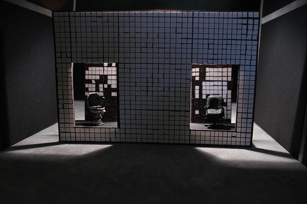 """""""Entfrorene Zukunft"""" - Virtuelle Opernbühne Bad Homburg/ Naxoshalle FFM - Bühnen- und Kostümbild Maria Pfeiffer - Modellfoto"""