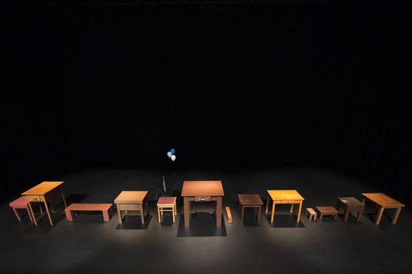 Paula und die Leichtigkeit des Seins. Theater Mummpitz. Bühne: Maria Pfeiffer. Foto: Thomas Riese