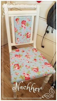 alter Stuhl nach der Restaurierung