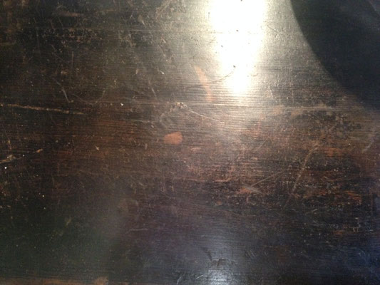 peinture noire d'origine meuble de boiserie