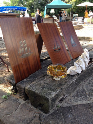 série de panneaux de boiserie sur le theme de la mer