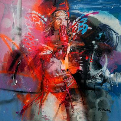 Serie Mujeres / Acrílico sobre lienzo / 50 x 50 cms / DISPONIBLE