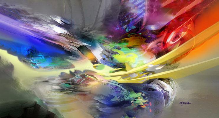 Life / Acrílico sobre lienzo / 2.35 x 1.30 mts / DISPONIBLE