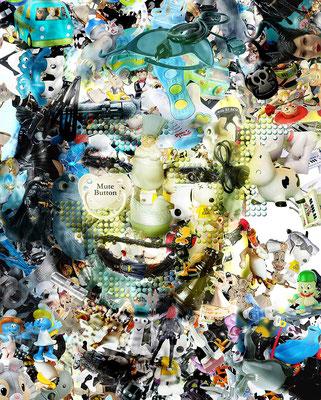 Ilusión Óptica Celia Cruz / Arte Digital sobre retablo en madera con acabado en resina / 1.50 x 1.22 mts / DISPONIBLE