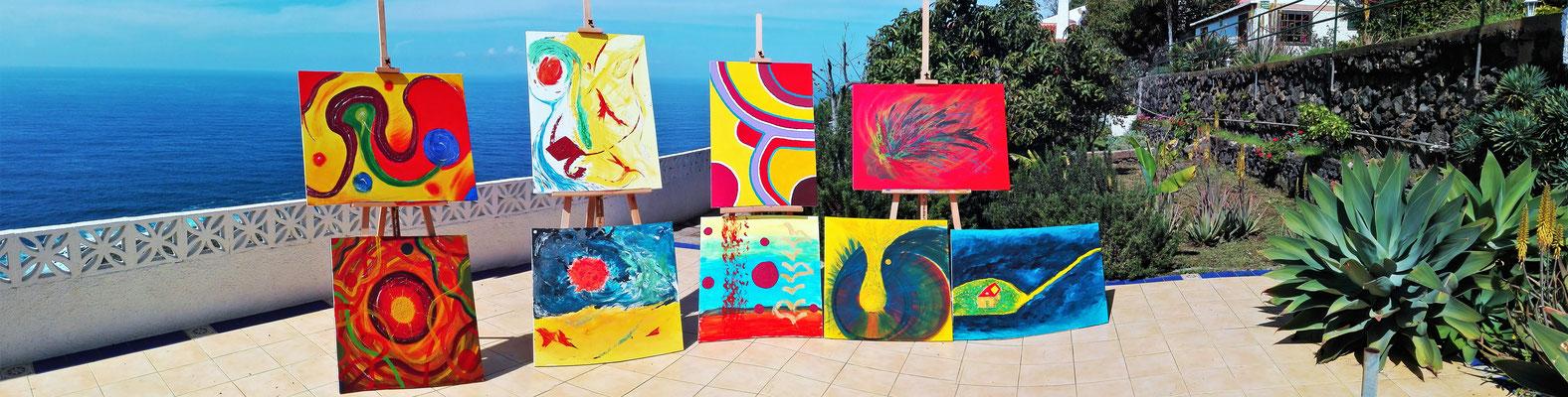 Seminar Intuitives Malen auf Teneriffa