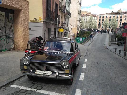 seat 1500 taxi vintage tour madrid