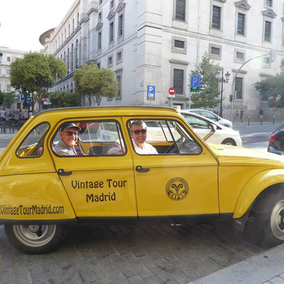 vintage tour citroen dyane madrid