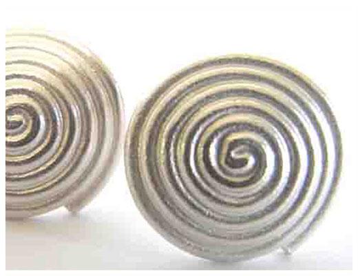 Silber Stecker, spiralförmig
