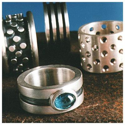 Moderne Sterling Silber Ringe