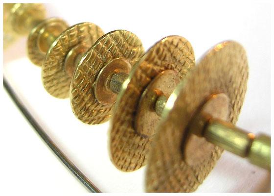 Halsreif, bicolor, 750er Gold und Stahl