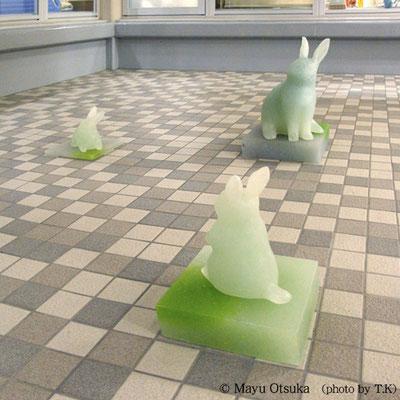 港区三田の病院光庭オブジェ 8点制作 H23~57(cm)2012年