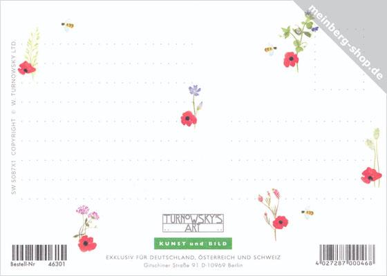 Mohnblumen Rückseite Postkarte