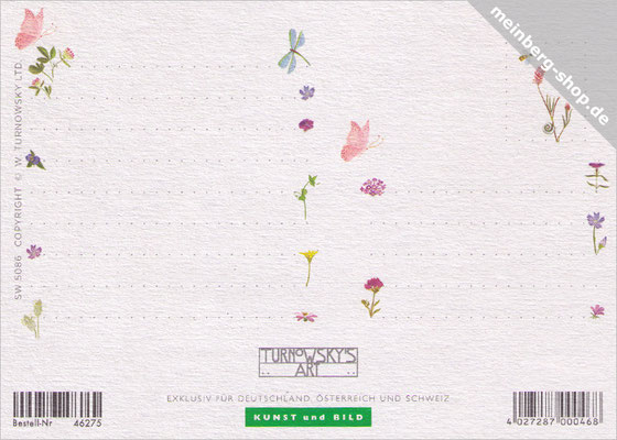 Blumen Postkarte Rückseite