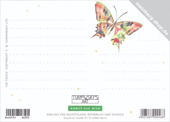 Postkarte Schmetterling Rückseite