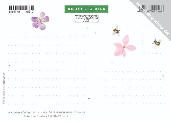 Blüten Postkarte Rückseite
