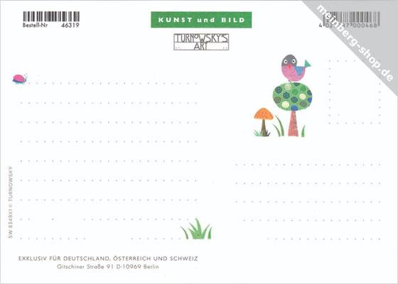 Schnecke Postkarte Rückseite