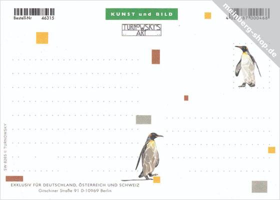 Pinguine Postkarte Rückseite
