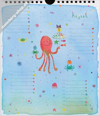 Kalendermonat August Tintenfisch