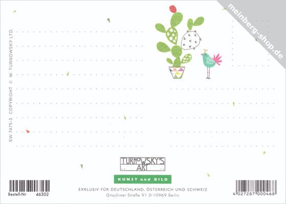 Kakteen Postkarte Rückseite