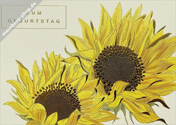 Geburtstag Sonnenblumen Postkarte
