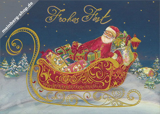 Weihnachtsschlitten Postkarte