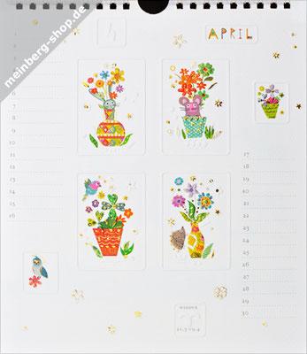 Kalendermonat April Blumentopf
