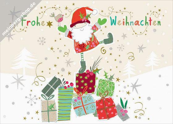 Weihnachtsmann Geschenke Postkarte