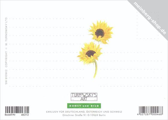 Sonnenblume Postkarten Rückseite