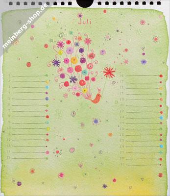 Kalendermonat Juli Vogel