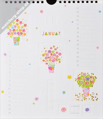 Kalendermonat Januar Blumenstock
