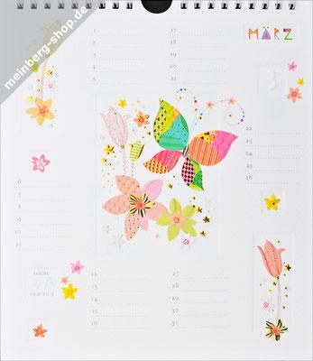 Kalendermonat März Schmetterling