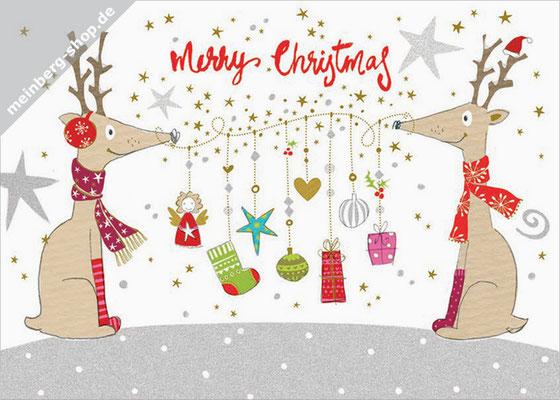 Rentiere Merry Christmas Postkarte