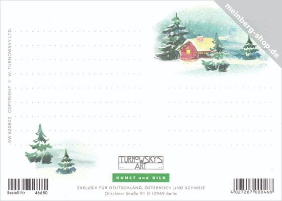 Malerische Winterlandschaft Rückseite