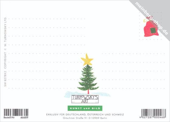 Pinguine Weihnachtsgrüße Rückseite