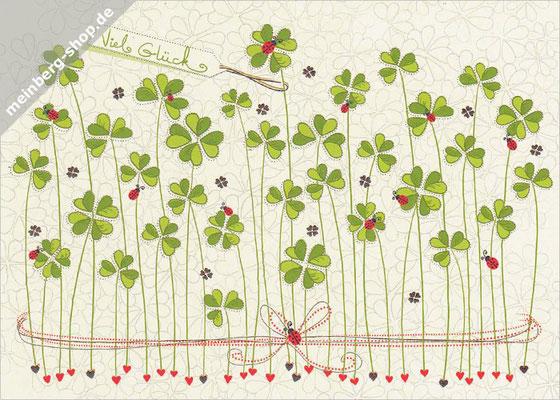Kleeblätter Viel Glück Postkarte