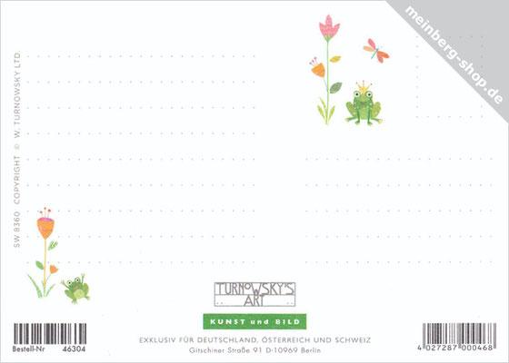Frosch Postkarten Rückseite