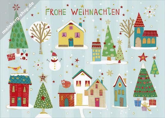 Weihnachtsdorf Postkarte