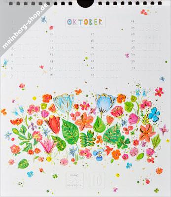 Kalendermonat Oktober Blumenwiese