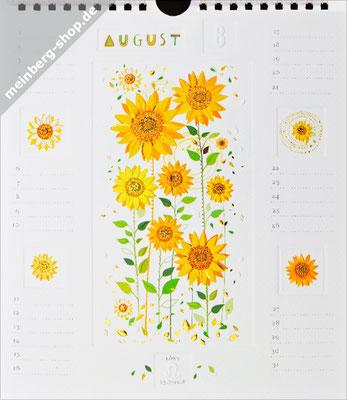 Kalendermonat August Sonnenblumen