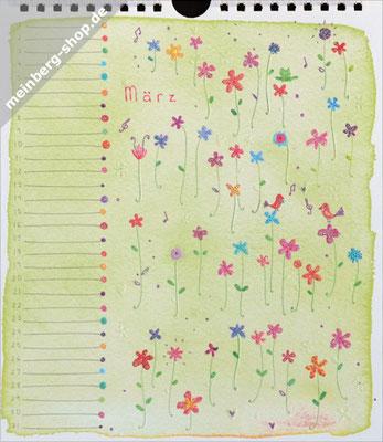 Kalendermonat März Blumen
