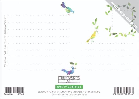 Paradiesvögel Postkarte Rückseite