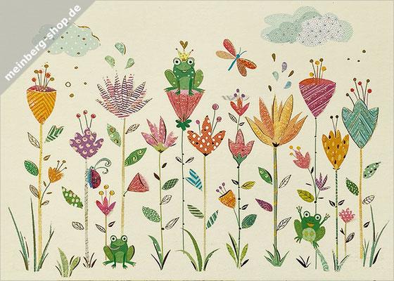 Blumen und Frösche Postkarten