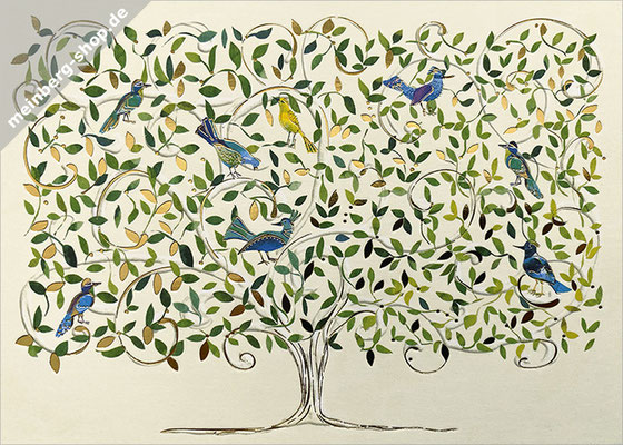 Paradiesvögel Postkarte