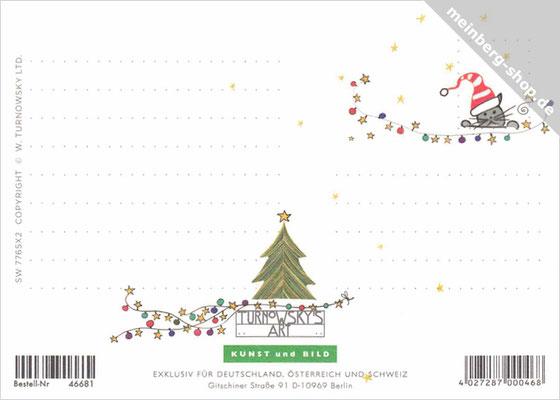 Weihnachtspostkarte Rückseite