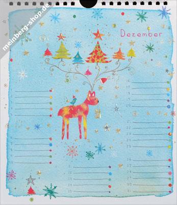 Kalendermonat Dezember Rentier