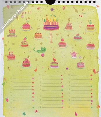 Kalendermonat April Kuchen