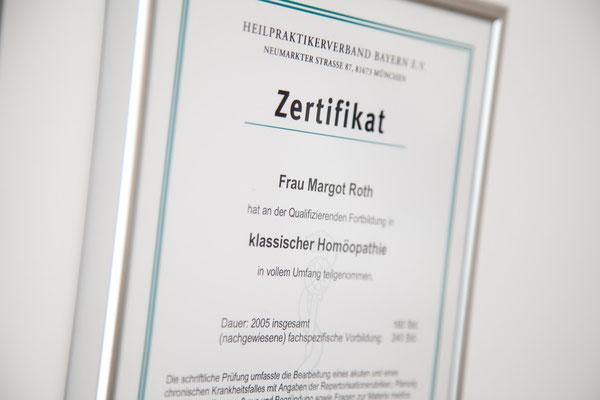 Certificat classic homeopathy