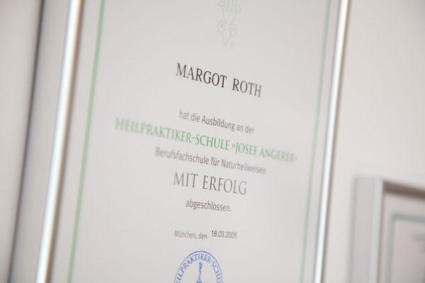 Diploma Josef Angerer Schule für Naturheilkunde