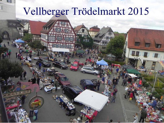 Kulturkreis Vellberg, Trödelmarkt 2015