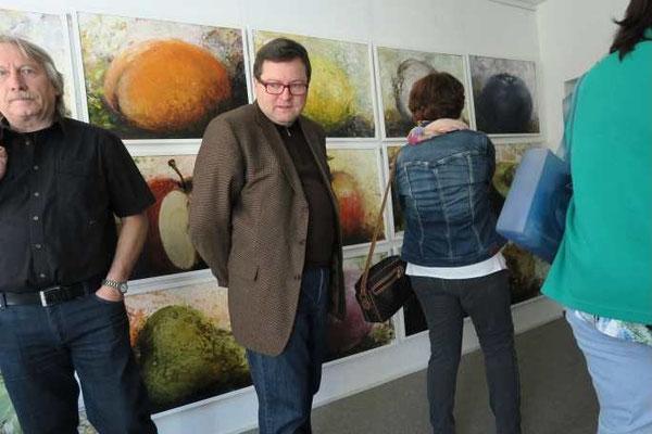 """7 Kulturkreis Vellberg  Atelierbesuch bei Gerhard Frank, Crailsheim, 19. April 2015, """"Abstrakt und Real"""""""